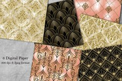 Seamless Damask Digital Papers. Collection of papers. Product Image 1