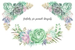 Watercolor Succulents and Greenery Product Image 5