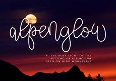 Alpenglow - Bouncy Script Font Product Image 5