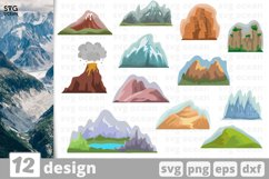 Camping SVG Bundle| Hiking Cut File | Silhouette Product Image 2
