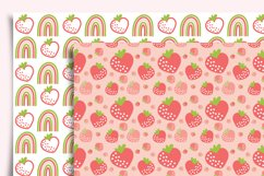Strawberry Digital Paper Seamless Product Image 6