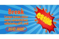 Break concept banner, comics isometric style Product Image 1
