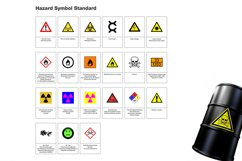 21 Hazard Symbols Warning Standard in SVG AI EPS Product Image 2