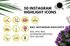 Instagram Story Highlight Icons Yellow Watercolor- Set of 50 Product Image 5