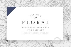 20 Procreate Floral Stamps Vol. 3 Product Image 1