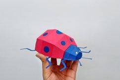 DIY Papercraft Ladybug,Lady bug,Lady beetle,Ladybug svg,dxf Product Image 3