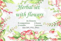 Herbal set with flowers Product Image 1
