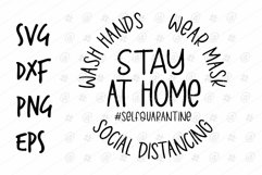 Stay at home Self Quarantile life SVG design Product Image 1