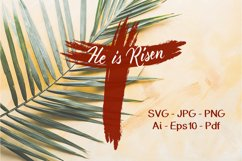Easter SVG He is risen Product Image 2