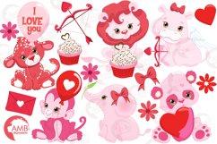 Happy Valentine clipart, Valentine jungle clipart, graphics illustrations AMB-1577 Product Image 5