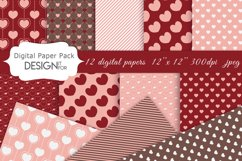 Valentine's Day digital paper pack, love, hearts, patterns Product Image 1