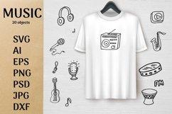 Music doodle kit SVG design Product Image 1
