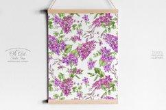 Watercolor Lilac Digital paper bag Product Image 5