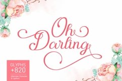 Oh Darling | Lovely Calligraphy Font Product Image 1