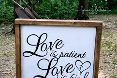 Love Is Patient Love is Kind 1 Corinthians 13 SVG DXF LL022E Product Image 3