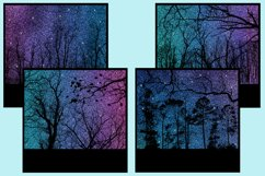 Starry Forest Glitter Snapshot Backgrounds - 10 Image Set Product Image 4