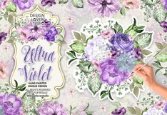 Ultra Violet watercolor design Product Image 1