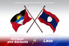 Antigua vs Laos Two Flags Product Image 1