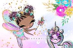 Fairy Clipart, Unicorn Dragon Frog Castle Clipart Product Image 6