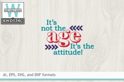 Birthday SVG - It's Not The Age Product Image 2
