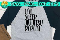 Eat. Sleep. Jui Jitsu. Repeat. - SVG PNG EPS DXF Product Image 1
