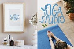 Yoga with girl - set of illustrations with asana Product Image 5