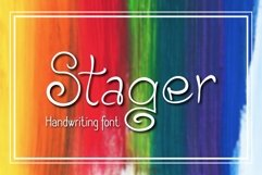 Stager Font Product Image 2