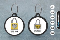 Heart Lock Keychain Product Image 1