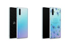 Huawei P30 UV TPU Clear Case Mockup 2019 Front-Back Angled Product Image 1