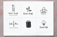 Elderflower script  logos Product Image 5