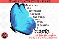 Butterfly Saying - Just When the Caterpillar | SVG Cut File Product Image 4