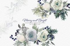 Christmas Watercolor Floral Clipart Collection Product Image 6