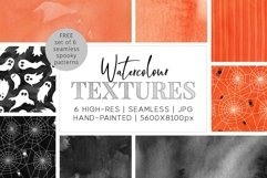 6 Huge Seamless Watercolour Halloween Textures Product Image 1