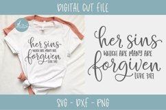 Her Sins Which Are Many Are Forgiven - Scripture SVG Product Image 1