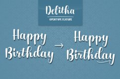 Delitha Font Product Image 5