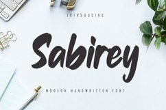 Sabirey - Handwritten Font Product Image 1