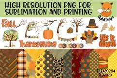 Fall Elements and Paper Sublimation Scrapbooking Bundle Product Image 1