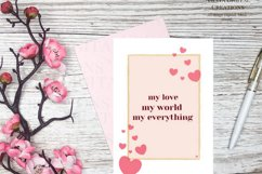 My love world everything Card E card,Card Instant Download Product Image 1