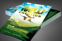 New Creation Church Flyer Template Product Image 1