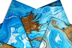 Marble Background Blue and Gold Product Image 3