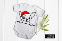 Chihuahua in red Santa hat svg file, Dog face svg New year Product Image 2