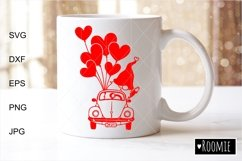 Valentines heart truck Svg Gnomes Clipart i love you Cutfile Product Image 2