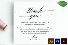 Wedding Thank You Card, Thank You Printable, Wedding Table Product Image 1