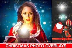 Christmas overlay & Sparkler overlay, Photoshop overlay Product Image 1