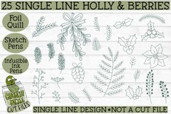 Foil Quill Christmas 27 Holly & Berries Set / Single Line Product Image 2