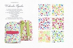 Summer Watercolor Popsicle Graphics Set and Patterns Product Image 2