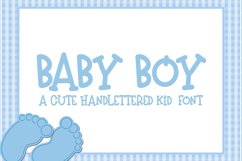 Baby Boy - A Hand-Lettered Kid Font Product Image 1