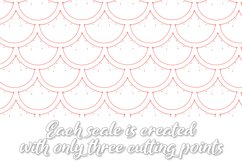 Mermaid Scales SVG | Mermaid Scales for Cameo & Cricut Product Image 4