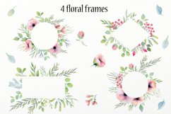 Watercolor floral design elements Product Image 5