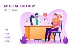 Medical Checkup Illustration Product Image 1